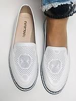 Evromoda. Жіночі літні туфлі-балетки з перфорацією білого кольору. Туреччина. Розмір 36.38.39.40.Vellena, фото 7