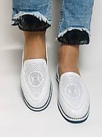 Evromoda. Жіночі літні туфлі-балетки з перфорацією білого кольору. Туреччина. Розмір 36.38.39.40.Vellena, фото 8