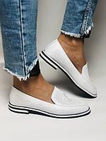 Evromoda. Жіночі літні туфлі-балетки з перфорацією білого кольору. Туреччина. Розмір 36.38.39.40.Vellena, фото 5