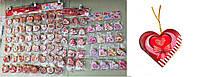 """Поздравительные карточки """"Валентинки'' фигурные сердца мал.  5,7x5,8 см, 200 шт\блистере"""