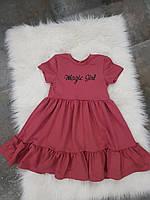 Дитяча сукня із ткані трикотаж.