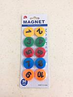 """Набір магнітиків """"Цифри"""" 10 штук\блістер."""