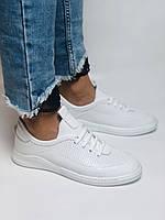 Evromoda. Женские белые кеды-кроссовки  из натуральной кожи. Размер 36,37,38,39,40, фото 3