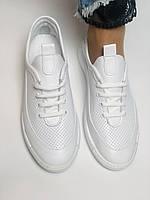 Evromoda. Женские белые кеды-кроссовки  из натуральной кожи. Размер 36,37,38,39,40, фото 4