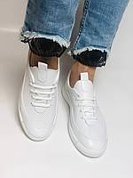 Evromoda. Женские белые кеды-кроссовки  из натуральной кожи. Размер 36,37,38,39,40, фото 5