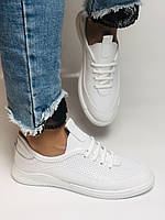 Evromoda. Женские белые кеды-кроссовки  из натуральной кожи. Размер 36,37,38,39,40, фото 7