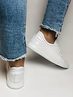 Evromoda. Женские белые кеды-кроссовки  из натуральной кожи. Размер 36,37,38,39,40, фото 8