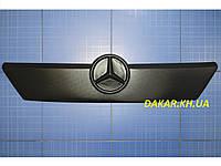 Зимняя заглушка решётки радиатора Mercedes Sprinter старая решётка верх 2000-2002 матовая Fly