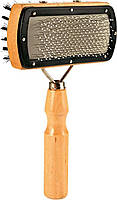 Пуходерка Trixie двусторонняя для ухода за шерстью и подшёрстком у собак 18 x 10 см с шариками 2305