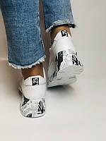 Evromoda. Женские кеды-кроссовки натуральная кожа с перфорацией Турция. Размер 37, фото 8