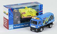 <> Cпецтехника Pullback City Truck металлопластиковая инерционная Бетономешалка оранжевая M-184366