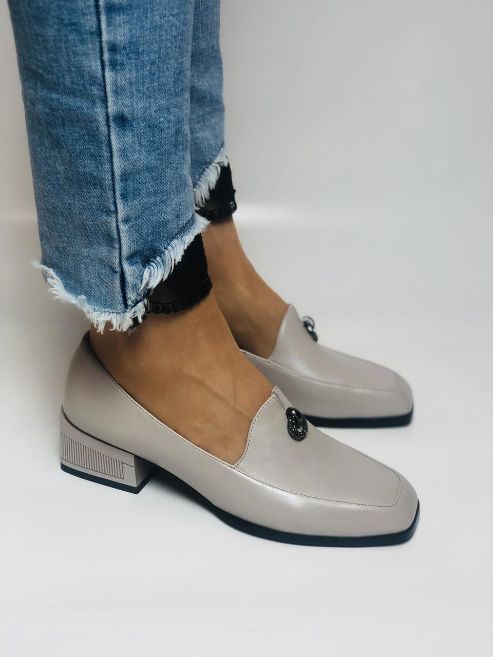 Molka. Жіночі туфлі -лофери з натуральної шкіри. Розмір 35,36,37,38,39,40.Vellena