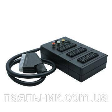 Штекер Scart - 3 гнізда scart + кабель 0,5м 1міні гн.4Р