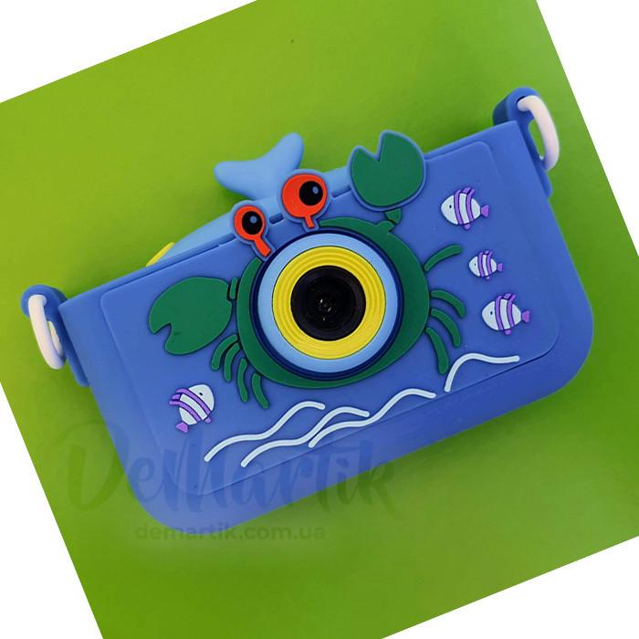 20Мп  оригінальний фотоапарат для дітей Краб з фронтальною камерою