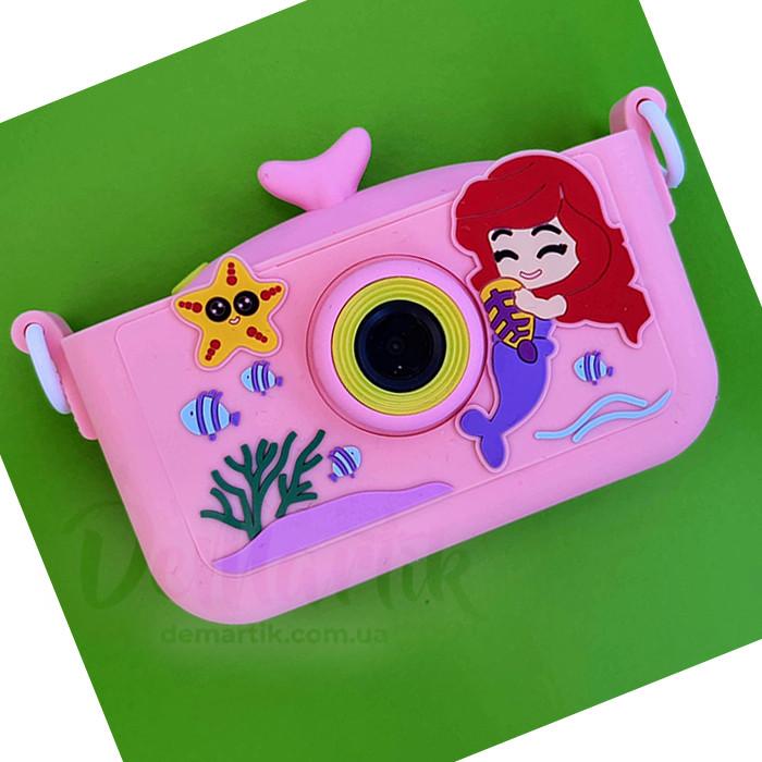 20Мп  цифровой фотоаппарат для детей Русалка Ариель
