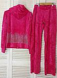 Женский спортивный велюровый турецкий костюм, С , М, L, 100 % Cotton, фото 10