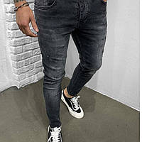Модные джинсы мужские зауженые темно серые | Производитель Турция 100% качество