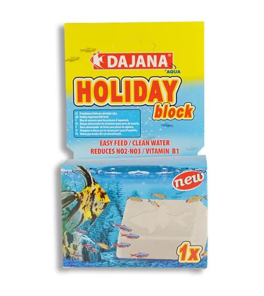 Кормовий блок Dajana Block Holiday на 14 днів,30гр. (20-25 рибок)
