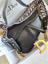 Жіноча сумка Dior Saddle сідло black