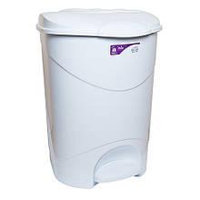 Ведро для мусора с педалью Irak Plastik Bella 3 30л Белое 4565, КОД: 1851571