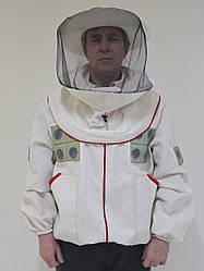 Куртка пчеловода с маской, с вентиляцией, размер