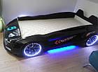 Дитяче ліжко машина Jaguar чорна, фото 3