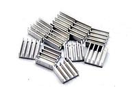 10x Алюминиевый мини радиатор 11х11х5мм