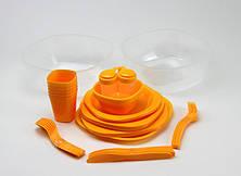 Набір туристичного посуду GreenCamp на 6 персон GC-139/54Y