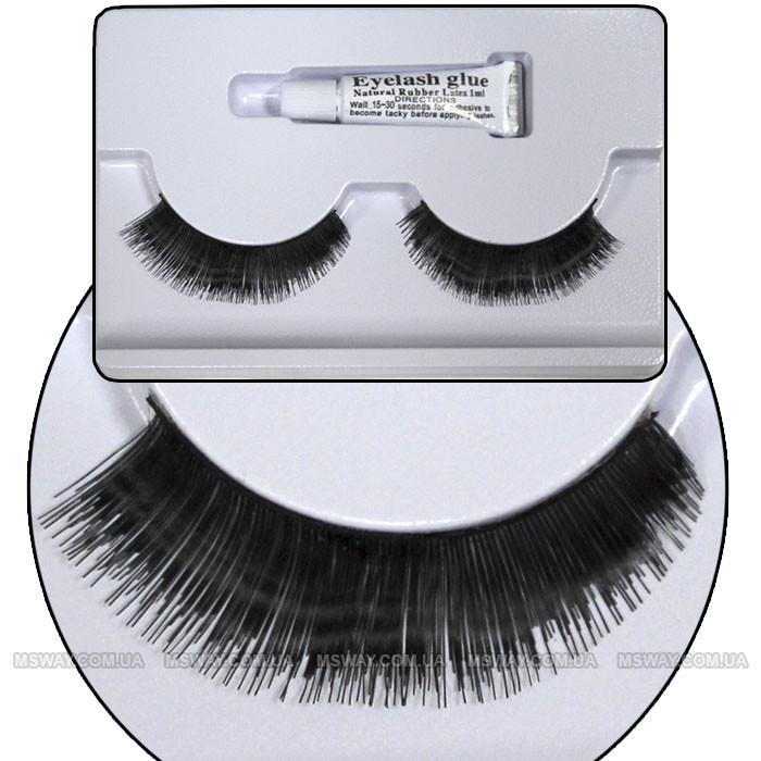 Ardell - Ресницы ленточные накладные + клей 1мл EyeLashes Natural Hair №18