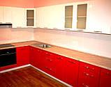 Розовая кухня на заказ МДФ крашеный глянец, фото 4