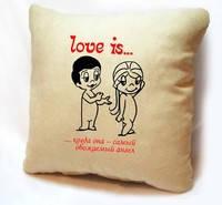 """Подушки з серії """"Love is..."""""""