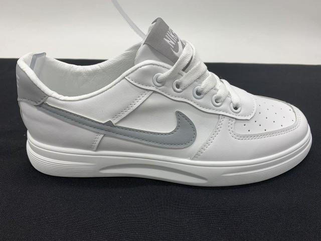 Кросівки підліткові * Fashion-Nike 611-3 білий/сірий *95645