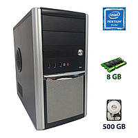 Системный блок Hyundai Pentino Silver MT /Intel 4-th gen (2 ядра 3.2 GHz /2014 /1150) 8GB DDR3 / 500GB HDD