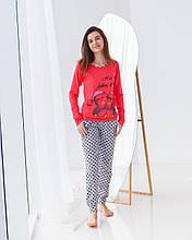 Женская пижама  с пингвинами Nicoletta 96098