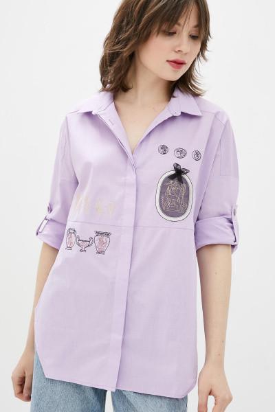 Рубашка Evdress S розовый