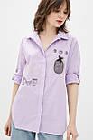 Рубашка Evdress S розовый, фото 2