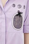 Рубашка Evdress S розовый, фото 5