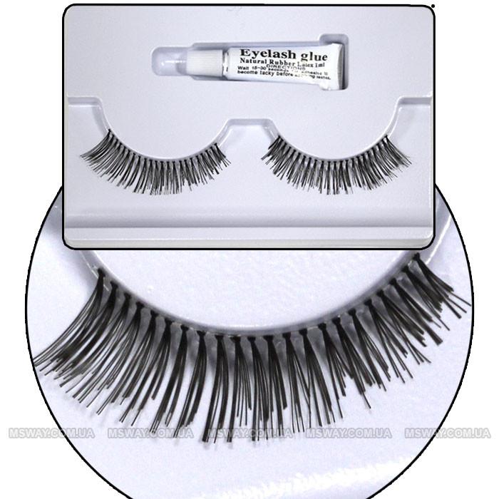 Ardell - Ресницы ленточные накладные + клей 1мл EyeLashes Natural Hair №21