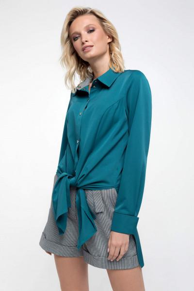 Рубашка Evdress L изумрудный