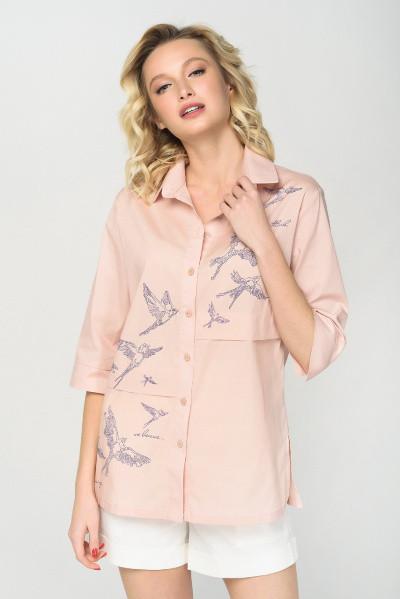Рубашка Evdress 2XL персиковый
