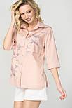 Рубашка Evdress S персиковый, фото 4