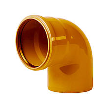Коліно каналізаційне Інтерпласт 110, 45° (зовнішня)
