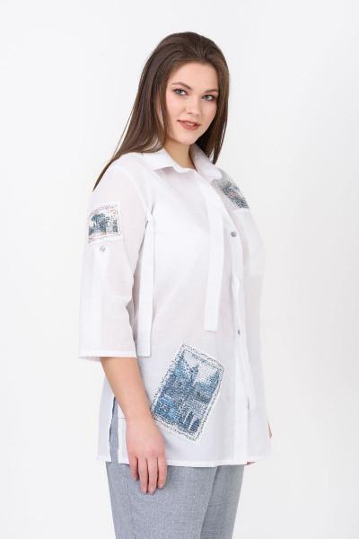 Рубашка Evdress 4XL белый