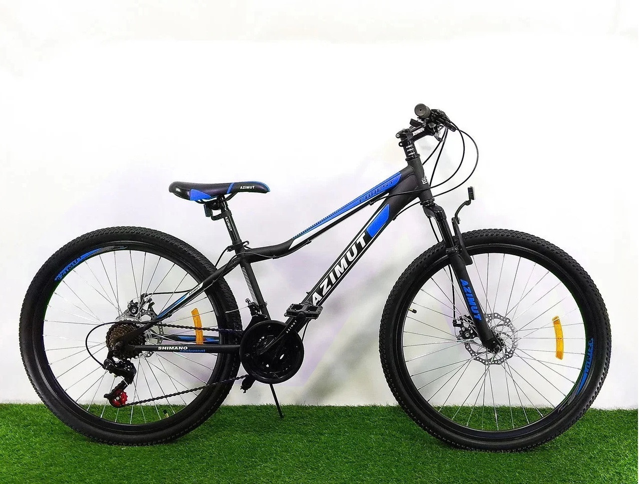 """Велосипед Azimut Forest 24"""" 12,5"""" Black / Blue"""