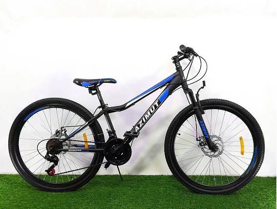 """Велосипед Azimut Forest 24"""" 12,5"""" Black / Blue, фото 2"""