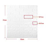 Самоклеючі 3Д панелі під Цеглу 700*770*5мм 3d миються звукоізоляційні вологостійкі для спальні ванної, фото 7