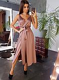Платье женское шелковое на бретелях BRQ1740, фото 5