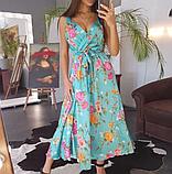 Платье женское шелковое на бретелях BRQ1740, фото 6