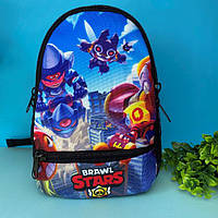 Портфель детский рюкзак для мальчика Бравл Старс (рюкзак для хлопчика Brawl Stars) в садик и школу