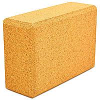 Блок для йоги пробковый (кирпич для йоги) 24x16,5x9см FI-0831